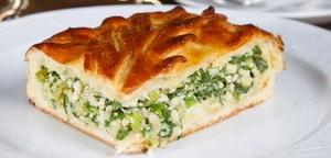 Как приготовить пирог с зелёным луком и яйцом в духовке