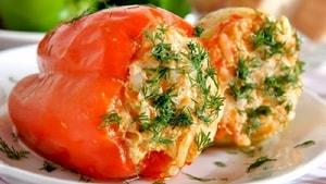 Как приготовить вегетарианский фаршированный перец, запеченный в духовке