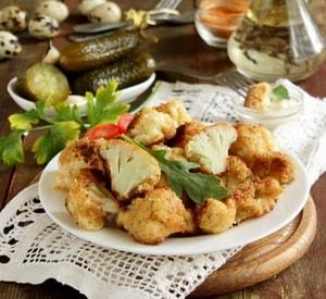 Какова диетологическая ценность данного рецепта приготовления цветной капусты в кляре