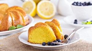 Как приготовить лимонный кекс на кефире