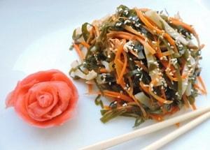 Как приготовить салат из морской капусты с морковью