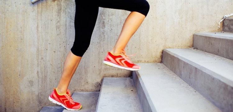 выполняем бег по ступеням