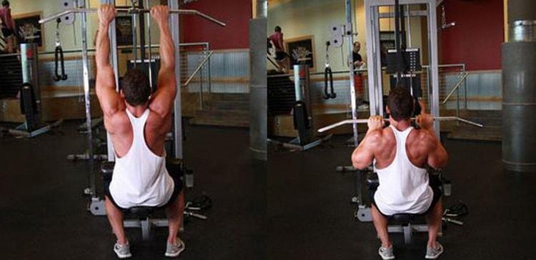 как правильно выполнять тягу верхнего блока к груди