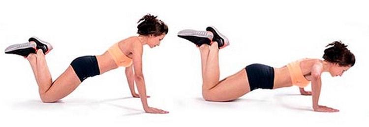 как отжиматься на коленях
