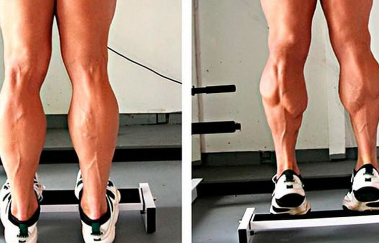 как выполнять подъемы на носочки на возвышении
