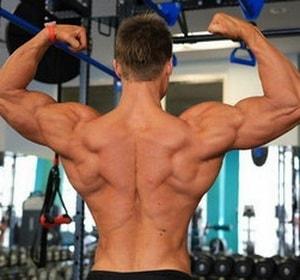накаченная спина после тренировок
