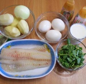 продукты для рыбной запеканки