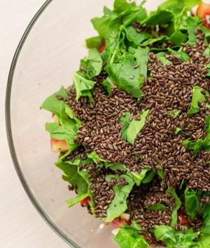 Салат с льняным семенем