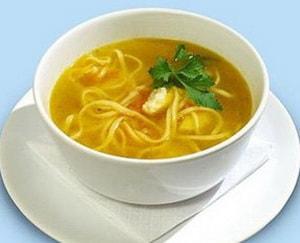 готовый суп с макаронами на говяжьем бульоне