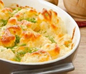 рецепт цветной капусты с яйцом и сыром в духовке