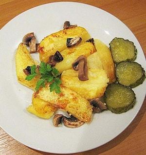 Картошка, жареная в мультиварке: рецептс грибами