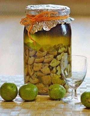 настойка зеленого грецкого ореха на водке применение