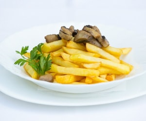 картошка фри с грибами в мультиварке
