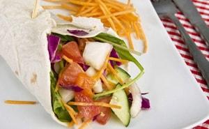 Рецепт овощной шаурмы с калорийностью