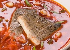 борщ с рыбой