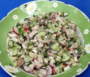 калорийность салату окрошки