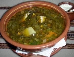 рецепт зеленого борща
