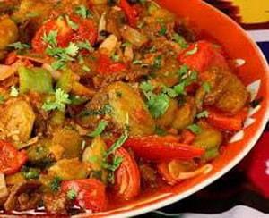 калорийность тушенных баклажан с овощами