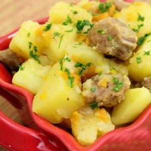 калорийность картошки тушеной со свининой