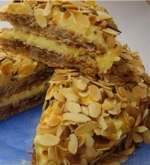 Калорийность миндального торта