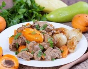 калорийность говядины с абрикосами