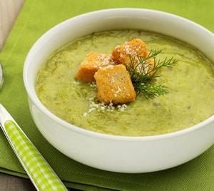Суп-пюре из кабачков:подробный рецептс плавленным сыром