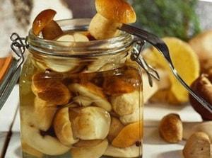 Калорийность соленых и маринованных грибов