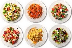 салат калорийность на 100 грамм