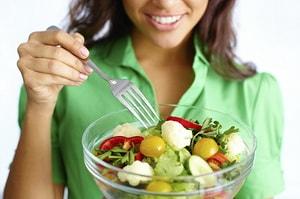 употребление салатов на диете