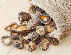 Калорийность сушеных грибов