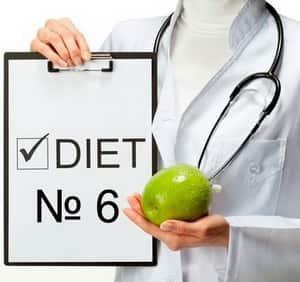 Диета «Стол № 6»: особенности лечебного питания